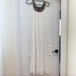 🆕 H&M   Cleopatra Maxi White Dress Slit 2